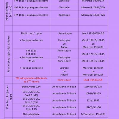 Horaires cours coll mus ens cho2 1