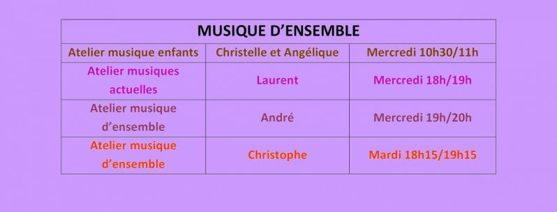 Horaires cours coll mus ens2
